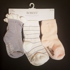 Robeez Infant Socks 3 Pair 12-24 Months